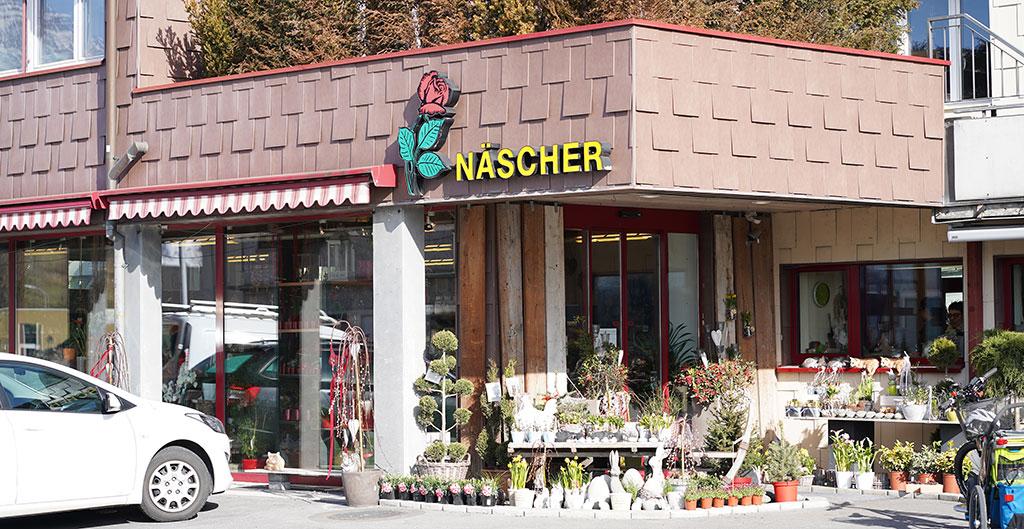 Ansicht Näscher Blumen Laden aussen